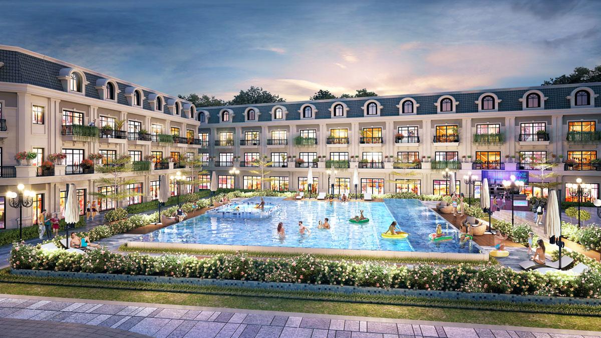 bể bơi vô cực dự án ariyana hải hà