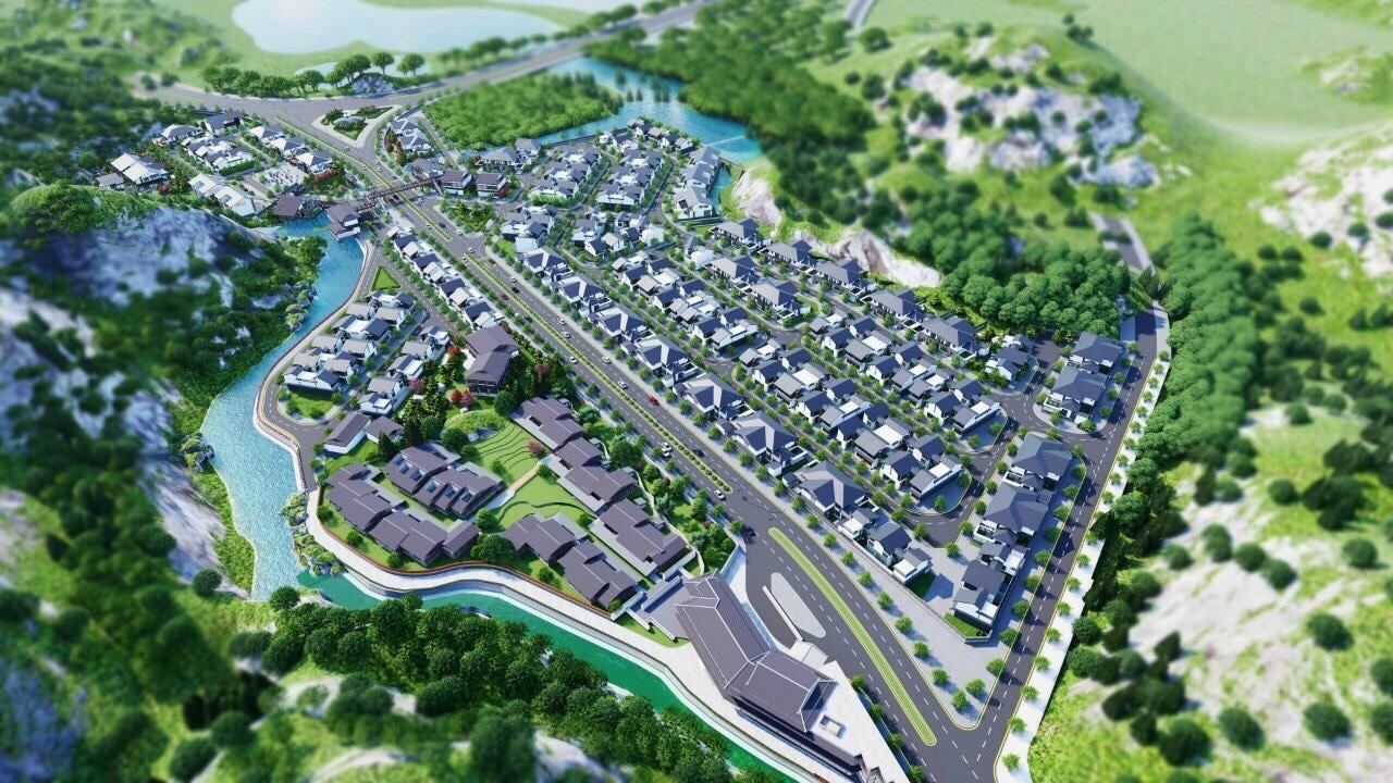 hình ảnh tổng thể dự án yoko onsen villa quang hanh